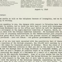 Letter : 1946 August 6