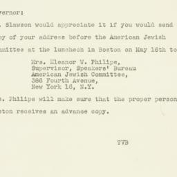 Note : 1947 May 6