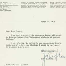 Letter : 1948 April 15