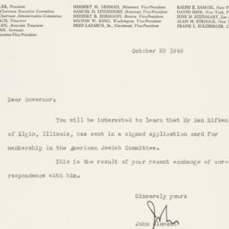 Letter : 1948 October 20