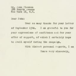 Letter : 1949 September 19