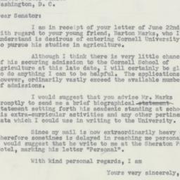 Letter : 1956 June 27