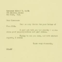 Letter: 1929 June 27