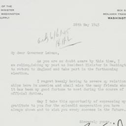 Letter : 1945 May 28