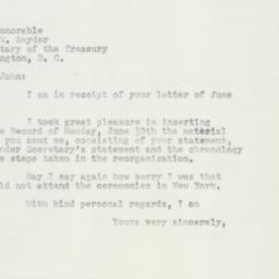 Letter : 1952 July 2