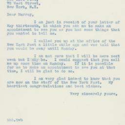 Letter : 1940 May 18