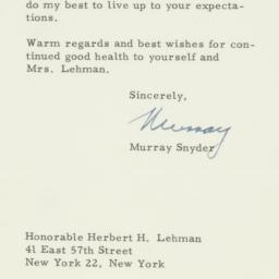 Letter: 1957 March 4