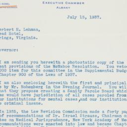 Letter : 1937 July 15