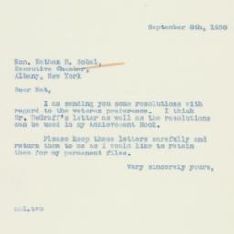 Letter : 1938 September 8