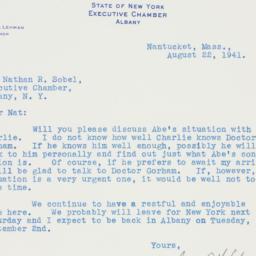 Letter : 1941 August 22