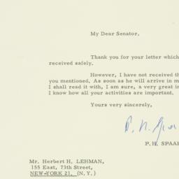 Letter : 1963 April 18