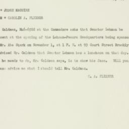 Memorandum : 1950 October 25