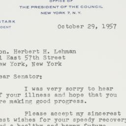 Letter : 1957 October 29