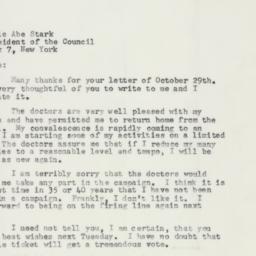 Letter : 1957 October 31
