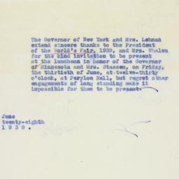Letter : 1939 June 28