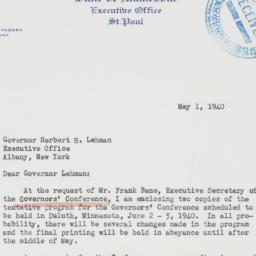 Letter : 1940 May 1
