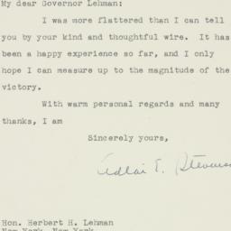 Letter : 1948 November 6