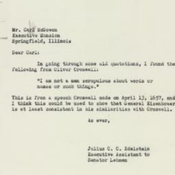 Letter : 1952 October 1