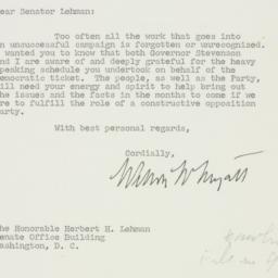 Letter : 1952 December 8