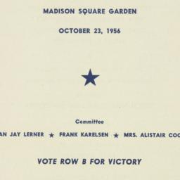Ephemera: 1956 October 23