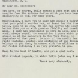 Letter : 1945 September 19