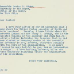 Letter : 1934 May 10