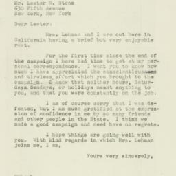 Letter : 1946 November 22
