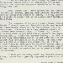 Letter : 1951 March 8
