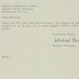 Letter : 1952 December 12