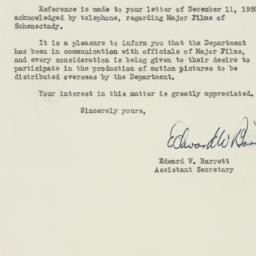 Letter : 1950 December 21
