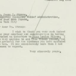 Letter : 1931 October 15