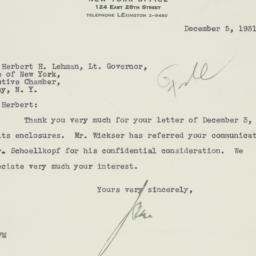 Letter : 1931 December 5