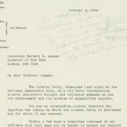 Letter : 1934 October 4