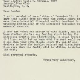 Letter : 1945 December 20