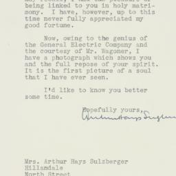 Letter : 1933 September 16