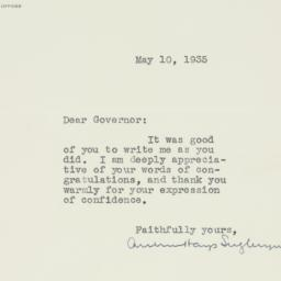 Letter : 1935 May 10