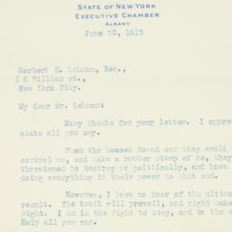 Letter : 1913 June 30