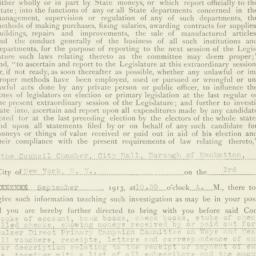 Administrative Record: 1913...