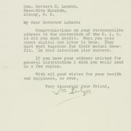 Letter : 1939 November 20