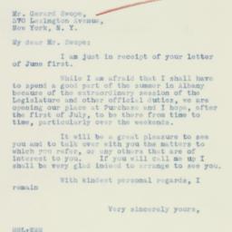 Letter : 1934 June 8