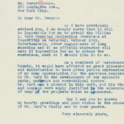 Letter : 1938 October 12