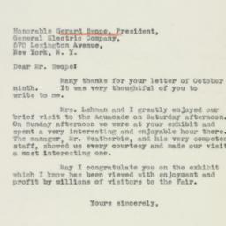 Letter : 1939 October 11