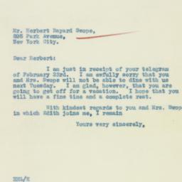 Letter : 1933 February 25