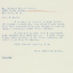 Letter : 1934 December 26