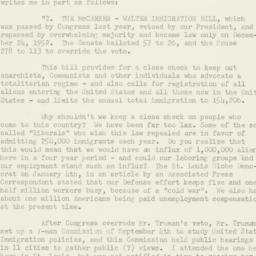 Letter: 1953 January 27