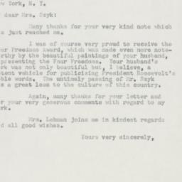 Letter : 1954 December 22