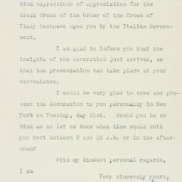 Letter : 1946 May 11