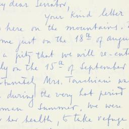 Letter : 1957 August 23
