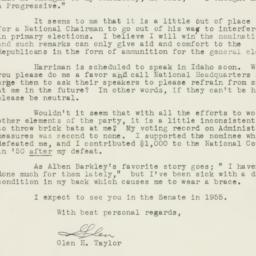 Letter : 1954 March 16