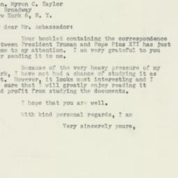 Letter : 1953 May 28